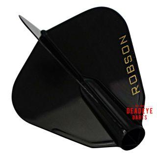 Robson Plus Dart Flights - F Shape - Black