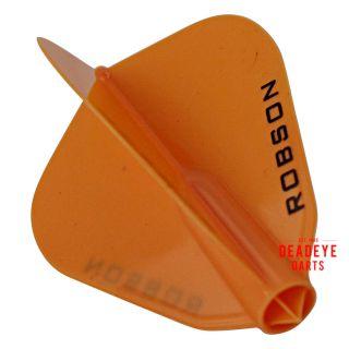 Robson Plus Dart Flights - F Shape - Orange