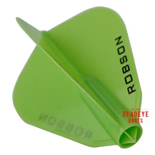 Robson Plus Dart Flights - F Shape - Green