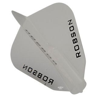 Robson Plus Dart Flights - F Shape - Clear