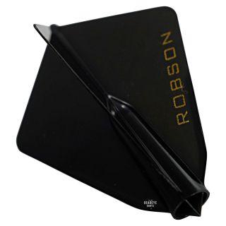 Robson Plus Dart Flights - Astra - Black