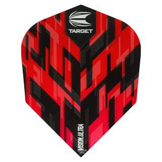 Target Sierra Vision Ultra Red No 6 Shape Dart Flights - F1102
