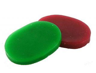 Deadeye Grip Wax - Pack of 2 - One Red - One Green - 37-0122