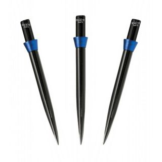 Red Dragon Specialist Dart Points - Black Standard 32mm with Blue Tridents