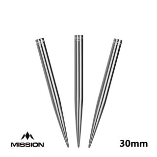 Mission Glide Dart Points - Replacement Smooth Points - Silver - 30mm