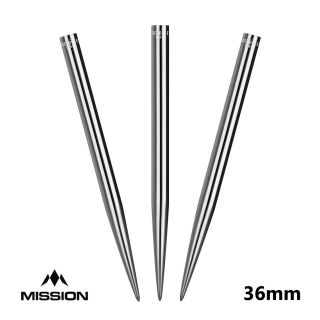 Mission Glide Dart Points - Replacement Smooth Points - Silver - 36mm