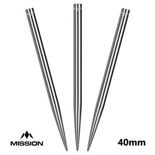 Mission Glide Dart Points - Replacement Smooth Points - Silver - 40mm