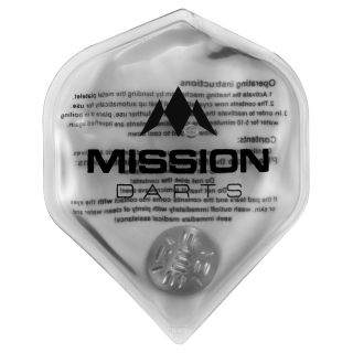 Mission Flux - Luxury Hand Warmer - Flight Shaped - Reusable - Clear