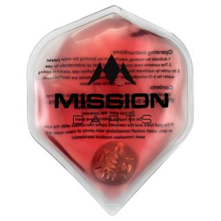 Mission Flux - Luxury Hand Warmer - Flight Shaped - Reusable - Red