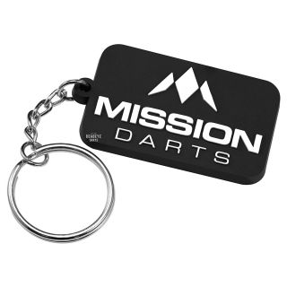Mission Logo Keyring - Soft PVC Feel - White