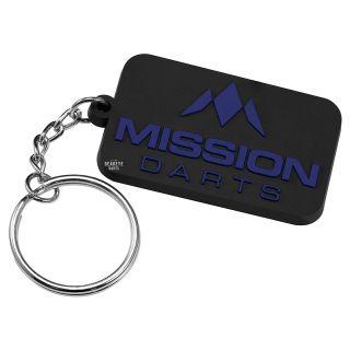 Mission Logo Keyring - Soft PVC Feel - Blue