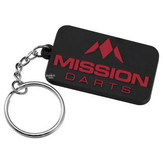 Mission Logo Keyring - Soft PVC Feel - Red