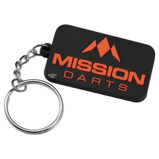 Mission Logo Keyring - Soft PVC Feel - Orange