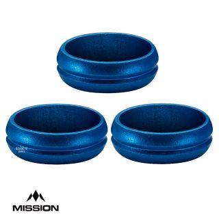 Mission F-Lock Rings - Flight Lock - for hole punched flights - Aluminium - Blue