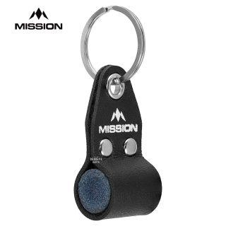 Mission Dart Sharpener - Round Stone inside Keyring - Black