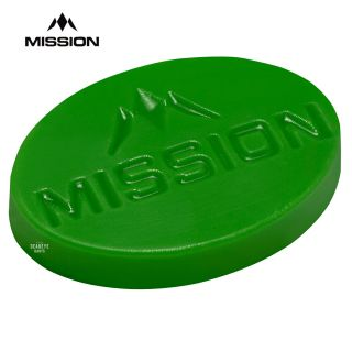 Mission Grip Wax with Logo - Scented - 7mm Thick - Large - Apple - Green