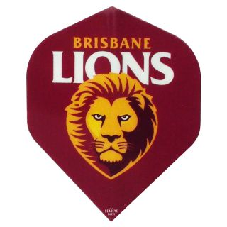 AFL Australian Football League Dart Flights - Brisbane Lions - F0463