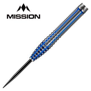 Mission Axiom Silver/Blue Titanium M3 25g Darts - D0474