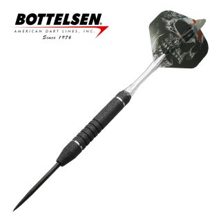 Bottelsen - Xtreme Great White 26g Black - Fixed Point - Steel Tip Darts - D1348