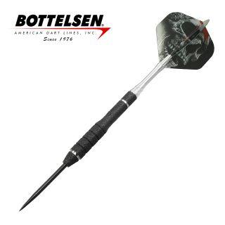 Bottelsen - Xtreme Great White 23g Black - Fixed Point - Steel Tip Darts - D1357