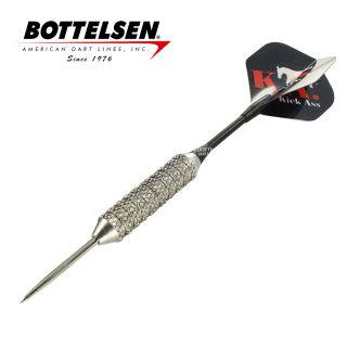 Bottelsen - Kick Ass Super Alloy 23g Silver Steel Tip Darts - D1375