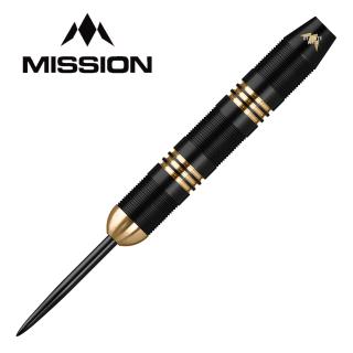 Mission Onza Black & Gold Brass M1 24g - Steel Tip Darts - D1528