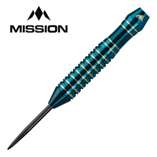 Mission Solace Blue/Green Electro Brass M1 22g - Steel Tip Darts - D1532