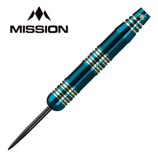 Mission Solace Blue/Green Electro Brass M2 23g - Steel Tip Darts - D1534