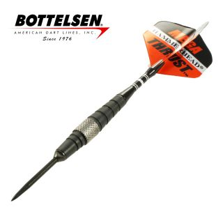 Bottelsen - Mega Thrust Hammer Head - Black - 22g - Steel Tip Darts - D1708