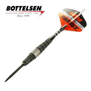 Bottelsen - Mega Thrust Hammer Head - Black - 24g - Steel Tip Darts - D1709