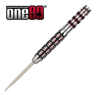 One80 Black J21 - 01 - 25g - Steel Tip Darts - D1769