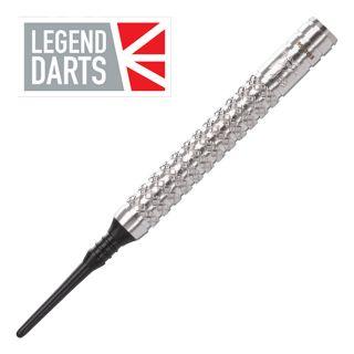 Legend Eric Bristow 21g Silver Knurled Soft Tip Darts - D1792