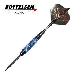 "Bottelsen - Devastators ""Infinite Series"" - 27g - Blue - Fixed Point - Steel Tip Darts - D1834"