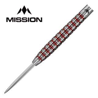 Mission Reiki M2 24g Steel Tip Darts - Electro Red - D1864