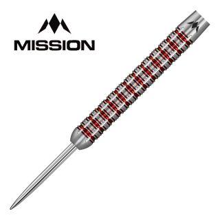 Mission Reiki M3 24g Steel Tip Darts - Electro Red - D1866