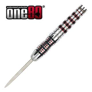 One80 Black J21 03 - 23g Steel Tip Darts - D1942