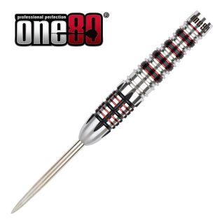 One80 Black J21 04 - 25g Steel Tip Darts - D1946