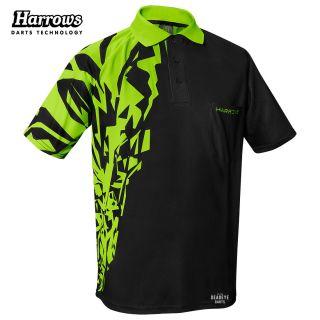 Harrows Rapide Black and Green Dart Shirt - S-5XL