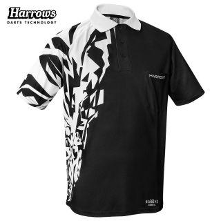 Harrows Rapide Black and White Dart Shirt - S-5XL