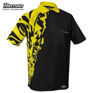Harrows Rapide Black and Yellow  Dart Shirt - S-5XL