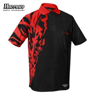 Harrows Rapide Black and Red  Dart Shirt - S-5XL
