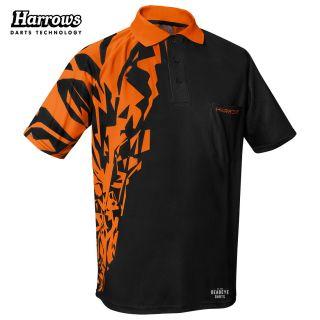 Harrows Rapide Black and Orange Dart Shirt - S-5XL
