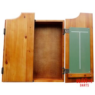 Deadeye Solid Wood Pine Cabinet with Dartboard plus Optional Accessories