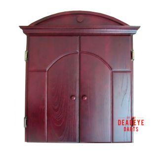 Deadeye Antique Style Deluxe Dartboard Cabinet with Dartboard plus Optional Accessories