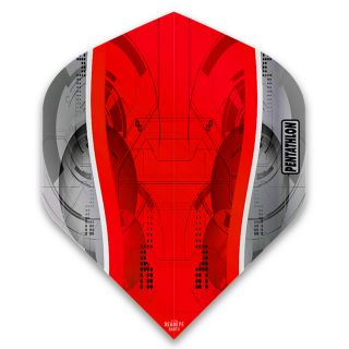 Pentathlon Silver Edge Dart Flights - Red