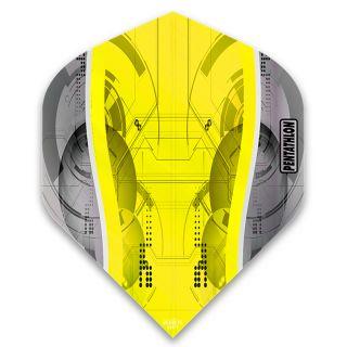 Pentathlon Silver Edge Dart Flights - Yellow