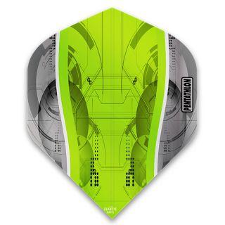 Pentathlon Silver Edge Dart Flights - Green