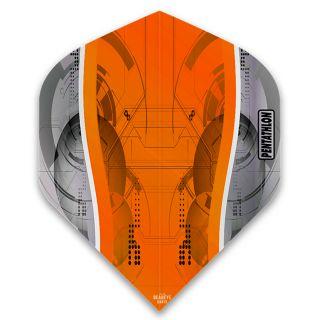 Pentathlon Silver Edge Dart Flights - Orange