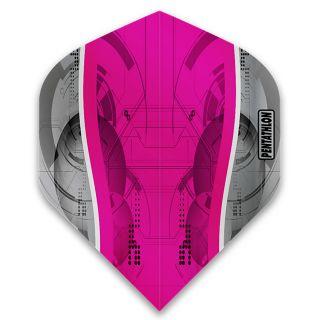 Pentathlon Silver Edge Dart Flights - Magenta