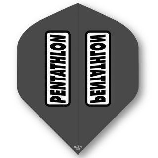 Pentathlon Grey Standard Dart Flights - F0311